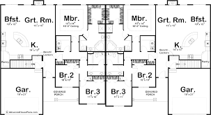 1 story multi family traditional house plan mcgrath