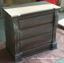 Wooden Furniture Paint Nightstand Makeover The Happier Homemaker