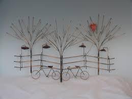 bikes and trees metal sculpture bike wall decormetal