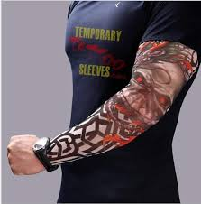 fake temporary tattoo sleeves body art arm stockings accessories