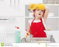 House Keeping by Little Housekeeping Fairy Tired Of Home Chores Royalty Free Stock
