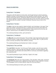 Family Roles In Addiction Worksheets Addiction And Codependency