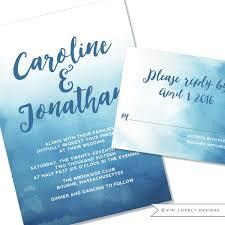 watercolor wedding invitations viri lovely designs custom wedding invitations event