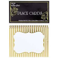 pinstripe gold foil place cards hobby lobby 1081702