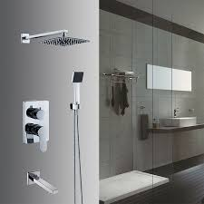 buy in wall shower set bathroom rain shower faucets 8 inch