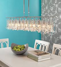 interior dining room crystal lighting in exquisite simple dining