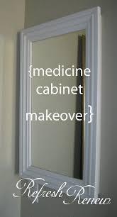 Wood Medicine Cabinet No Mirror Refresh Renew Medicine Cabinet Make Over Bathrooms