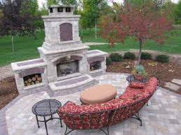 showy outdoor fireplace kits brick ovens paver fireplaces and no