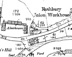 map of rothbury the workhouse in rothbury northumberland