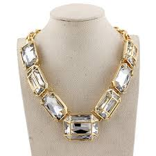 chunky gold necklace fashion images 2015 fashion big blue crystal necklaces pendants vintage jewelry jpg
