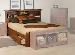 Storage Beds Queen Size With Drawers Amazon Com Prepac Monterey Cherry Queen Bookcase Platform Storage