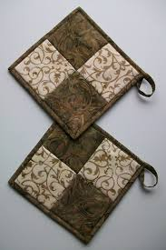 free patterns quilted potholders pot holder trivets to protect counter from hot pans sewn