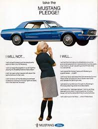 old mustang advertisement the mustang pledge throwbacks