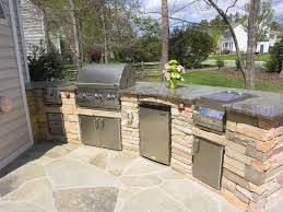outdoor kitchen countertop ideas outdoor kitchen countertops intended for property housestclair com