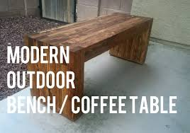 diy outdoor coffee table diy modern outdoor bench coffee table 2x4s only youtube