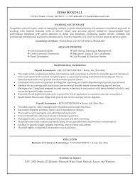 Accounting Resume Experience Payroll Skills For Resume 36545 Plgsa Org