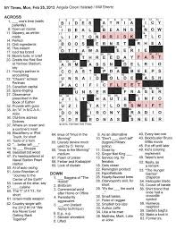 the new york times crossword in gothic february 2013