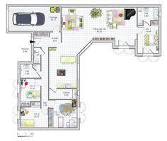 plan maison plain pied gratuit 4 chambres plan de maison gratuit 4 chambres unique maison 3d moderne