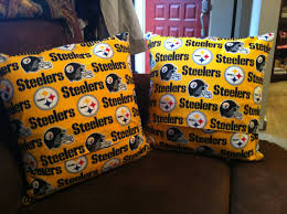 pittsburg steelers pillows sew patched up