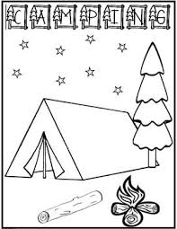 camping coloring freebie draw picture write