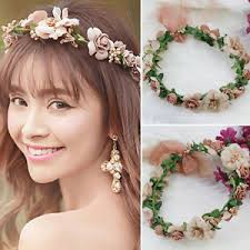 flower hair band hair band bridal wreath holder hoop wedding party flower
