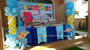 pocoyo party supplies theme rafi s 2nd pocoyo birthday its more than just a party