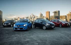 light car comparison renault clio v ford fiesta v kia rio v