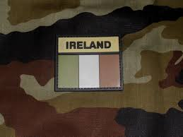 rubberised subdued ireland irish flag patch gbf militaria