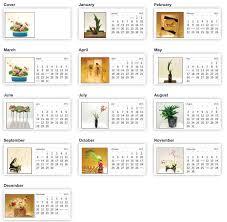 ikebana calendar sansai studio