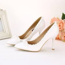 chaussures blanches mariage blanche pour mariee