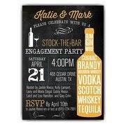 stock the bar party couples shower invitations paperstyle