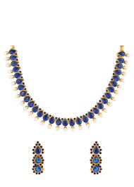 necklace with blue stone images Buy blue stone indian necklace set online jpg