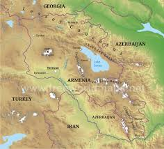 Asia Geography Map by Armenia Physical Map