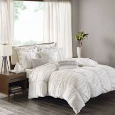 King Comforter Bedding Sets Buy White Ruched Comforter Bedding Sets From Bed Bath U0026 Beyond