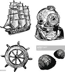 Nautical Theme Old Fashioned Nautical Theme Set Vector Art Getty Images