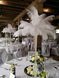white ostrich feather centerpieces orstrich feathers moments of elegance