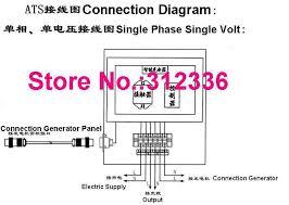 fast shipping 5 pins 10kw ats three phase 220 380v diesel