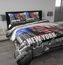 Housse De Couette Ado Fille by Sleeptime Housse De Couette New York 240x200 220 Gris Avec 2