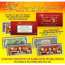 new year dollar bill year of the rooster 1 2 new year lucky money set