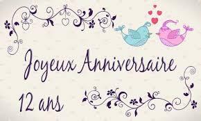 12 ans de mariage carte anniversaire mariage 12 ans oiseau
