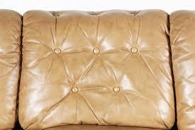 vintage tan leather tufted sofa vintage supply store