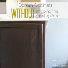 How To Update Kitchen Cabinets Without Painting Pneumatic Addict Darken Cabinets Without Stripping The Existing