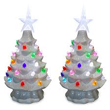 decorated tabletop christmas trees artificial ideas for
