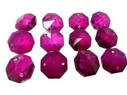 chandelier magnets magenta chandelier crystal octagon prisms 14mm beads