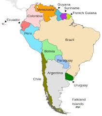 south america map with country names and capitals geography of south america