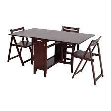 66 off home depot foldable kitchen table with folding chairs
