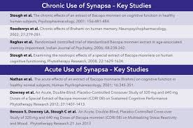 Double Blind Research Clinical Research Synapsa Natural Memory Support