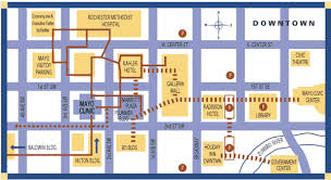 rochester mn map map of downtown rochester mn courtesy of the rochester lodging