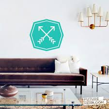 crossed arrow badge 02 cut vinyl removable wall decal arrow crossed arrow badge 02 cut vinyl removable wall decal fun wall art for your bedroom living room or even the nursery