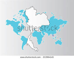 thailand vector map thailand map on world map backgroundmap stock vector 213564145